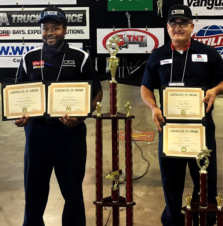 Truck driving and technicial championship winners