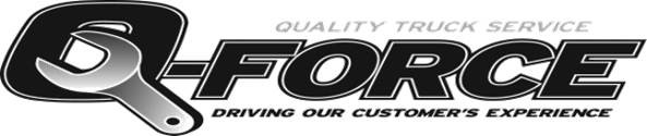 Quality truck service logo